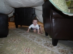 Free indoor fun– blanket fort!