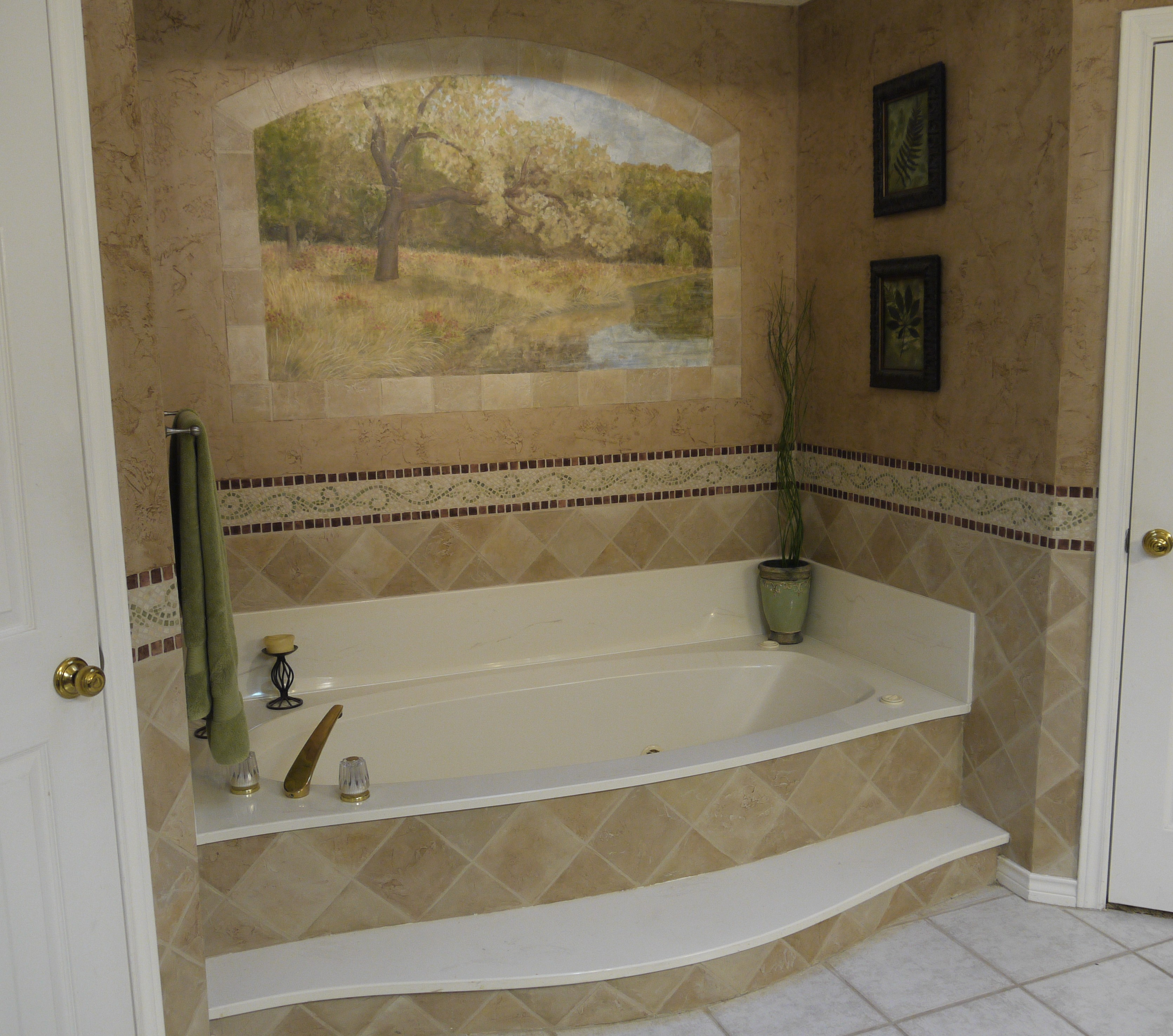 Painting Bathroom Tile Around Tub Bathroom Design