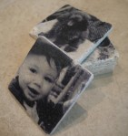 Travertine Photo Coasters