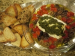 Baked Goat Cheese Appetizer (that I can't stopeating)