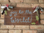 Hand-painted Wooden Christmas Signs
