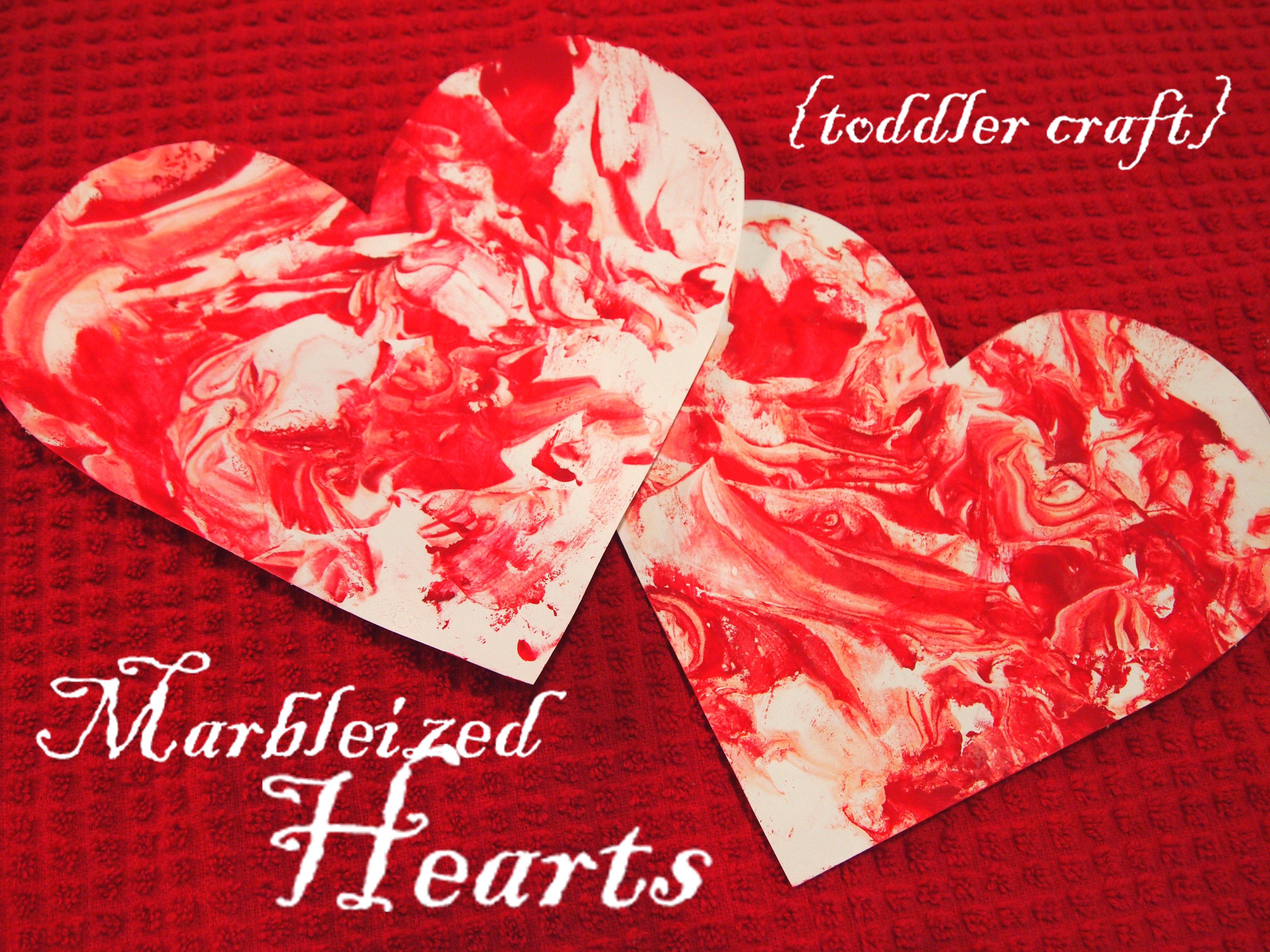 Marbleized Hearts