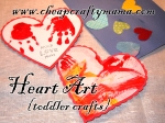 Paper Heart Art {3 toddler crafts}