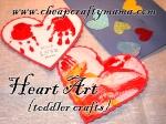 Paper Heart Art {3 toddlercrafts}