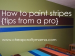 How to paint stripes {tips from a pro}