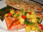 Grilled Salmon with FruitSalsa